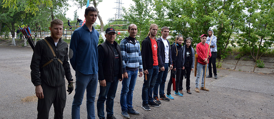 участники турнира по стрельбе из лука в Волгограде 10.06.2017